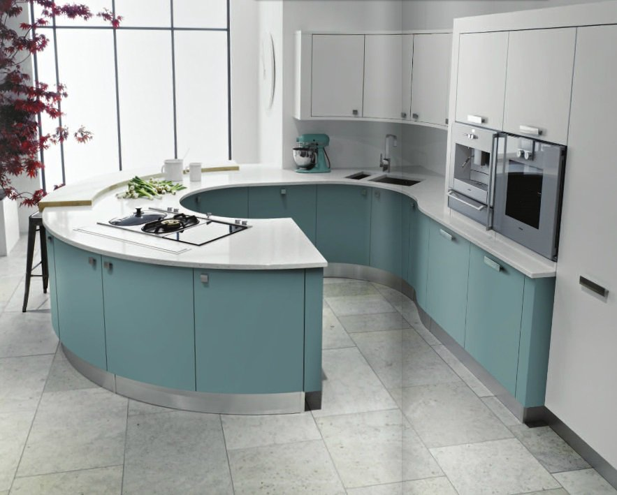 Curved Kitchens Cutting Edge Design THE KITCHEN