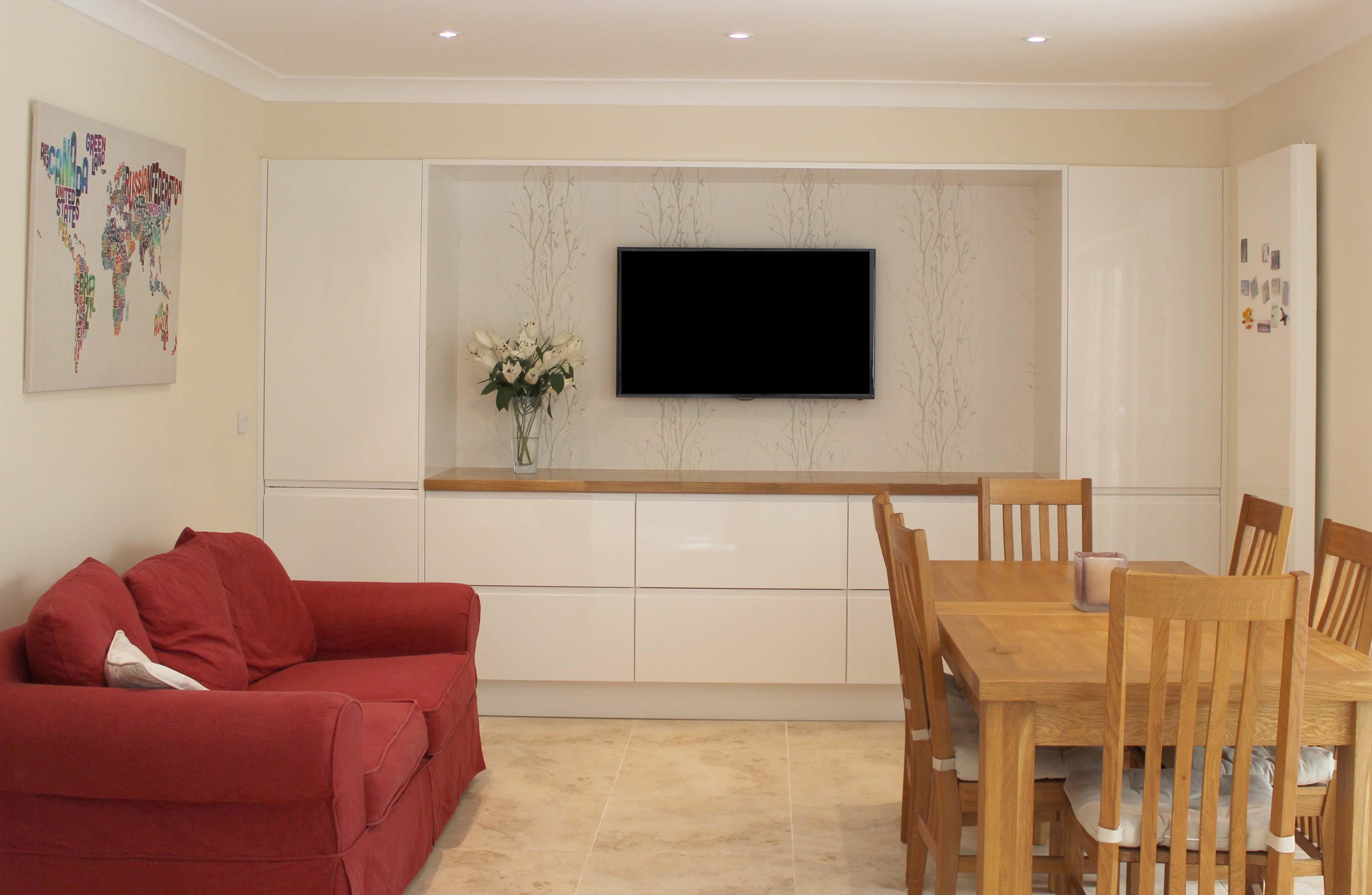 Storage/Dining area Airo Gloss White