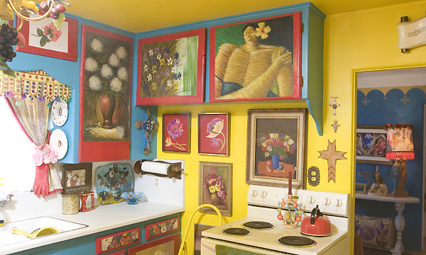 funky painted kitchen cabinets arty kitchen salisbury kitchens 15676