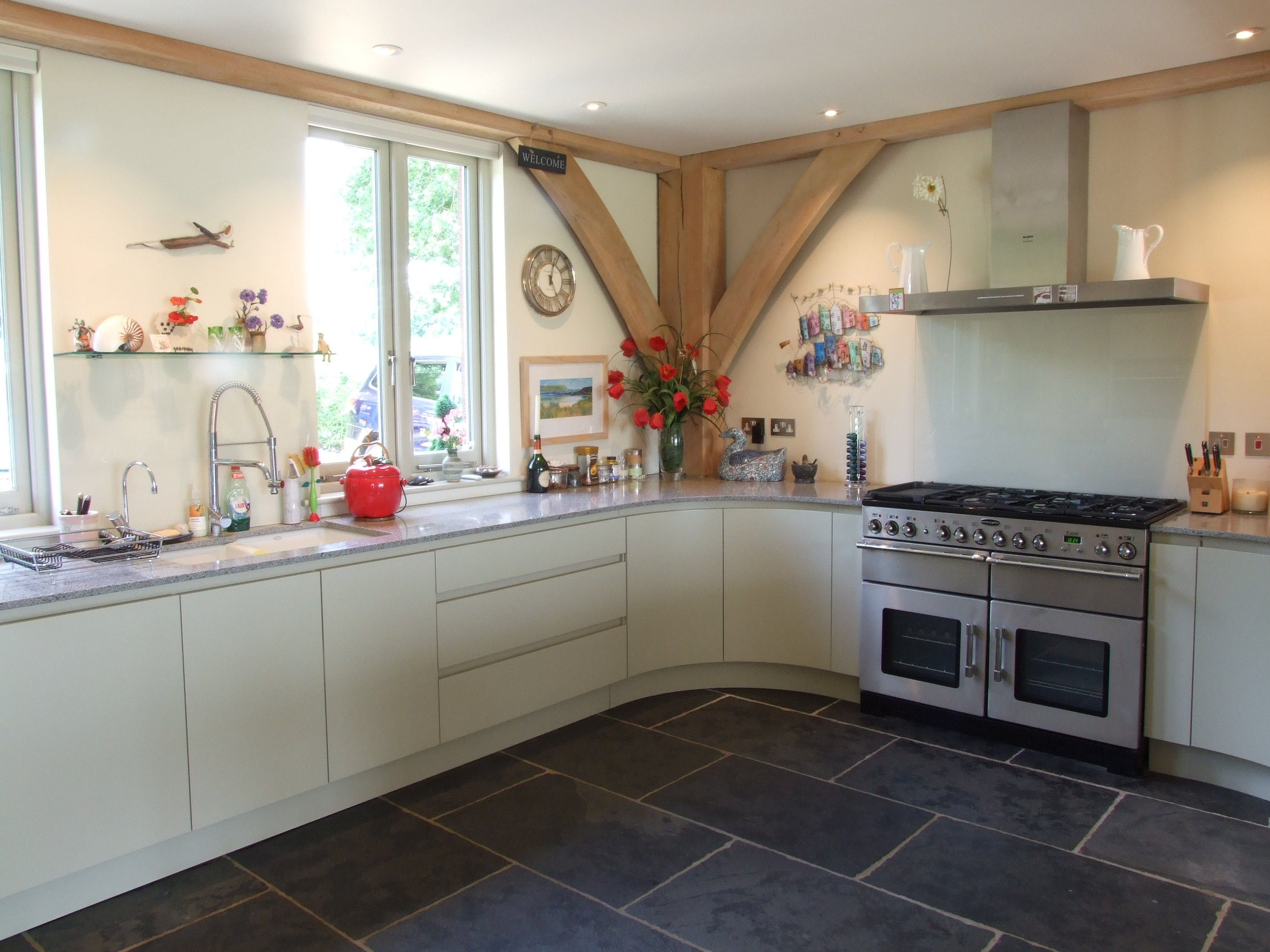 farrow and ball kitchen ideas painted handleless kitchen farrow and bone 23648
